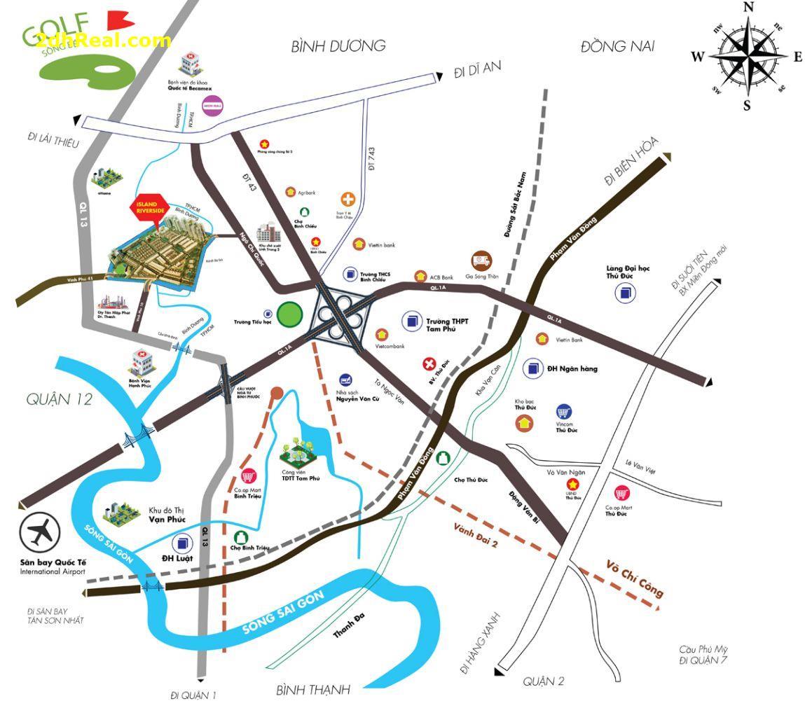 Dự án ISLAND RIVERSIDE Đường Ngô Chí Quốc, Phường Vĩnh Phú, Thị xã Thuận An, Bình Dương