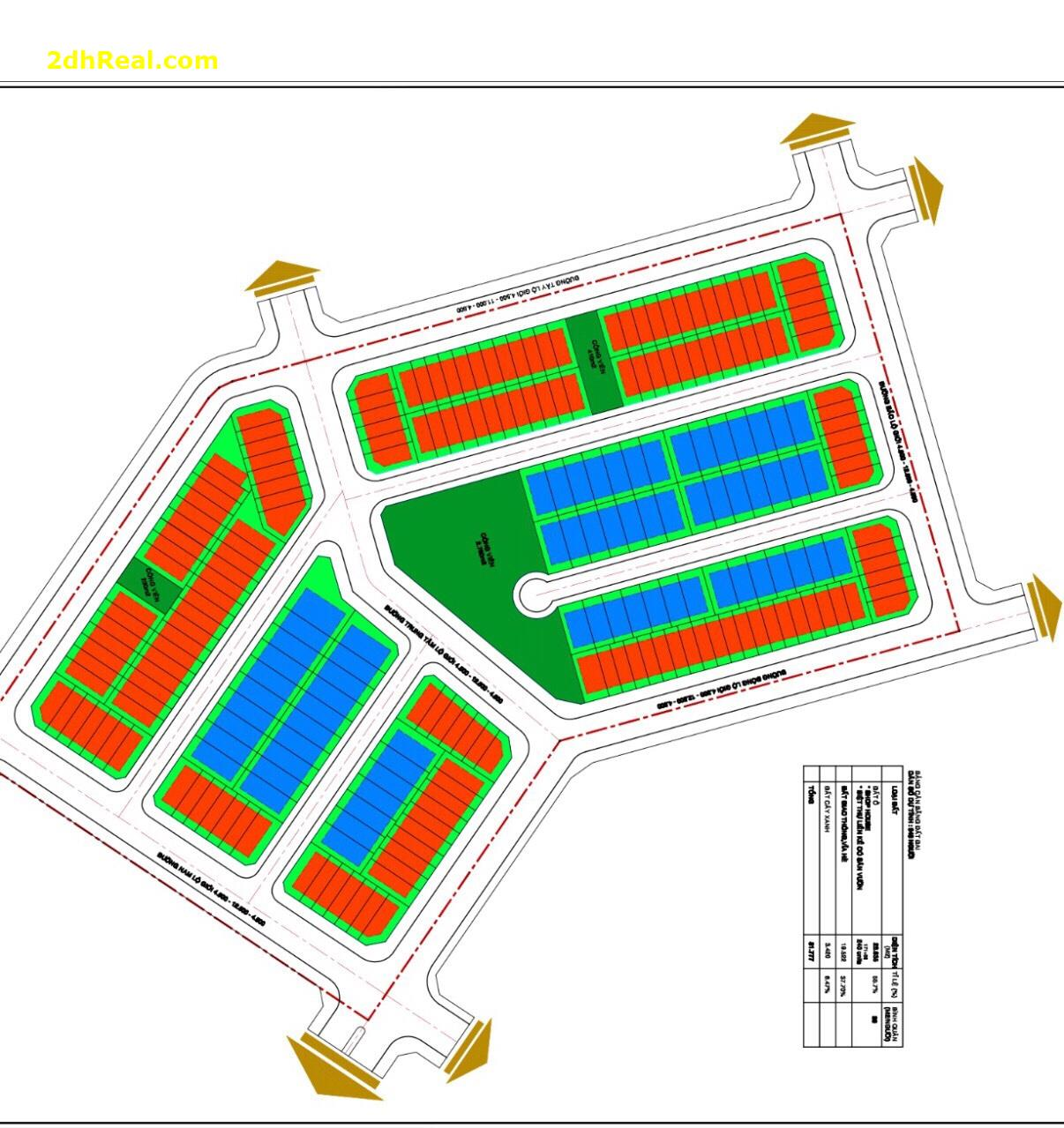 Chuyển nhượng dự án  Khu Biệt Thự - Shop House, tại Bình Chánh (5,348 ha)