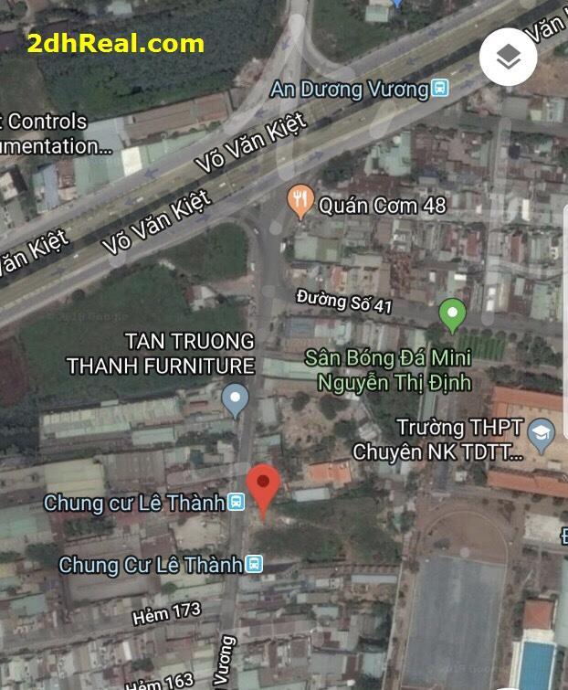 Bán dự án 4.968m khu dân cư 173 – 179 An dương Vương, phường 16, quận 8, Tp.HCM