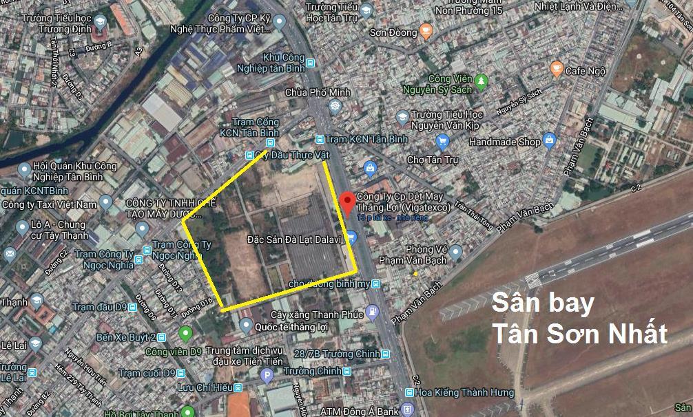 Dự án đất vàng gần 16 hecta tại Số 2 Trường Chinh,  phường Tây Thạnh, quận Tân Phú, Tp.HCM vào tay ai