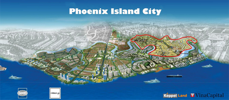 Dự án Khu Đô thị  Phoenix Island 286ha tại Cù lao Phước Hưng xã Tam Phước, Tp Biên Hoà Đồng Nai